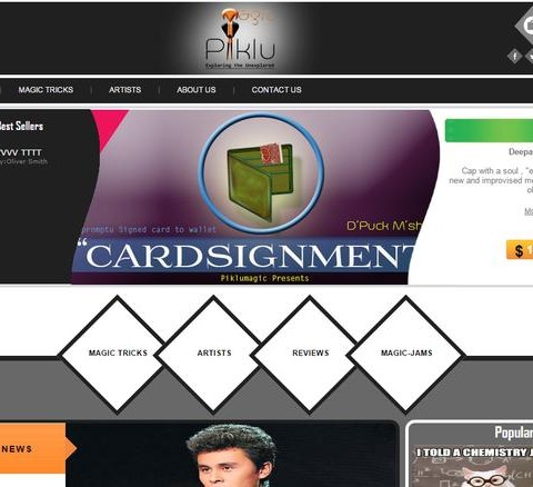Ecommerce portal for magic tricks